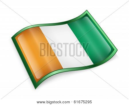 Ivory Coast Flag Icon.
