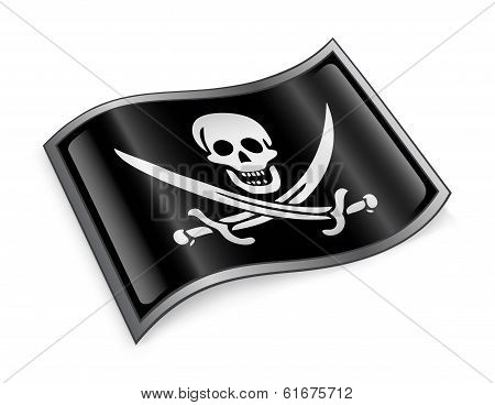 Pirate Flag Icon.