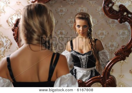 Woman In Front Of The Mirror