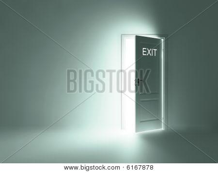room with open doors