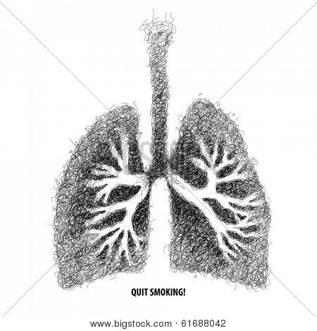 Vector Illustration of Infected Lungs