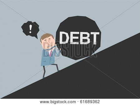 Business concept - debt