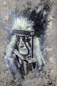 foto of headdress  - American Indian warrior - JPG
