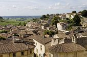 view of saint emilion, in aquitaine, france