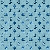 stock photo of navy anchor  - Seamless patterns - JPG