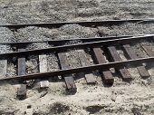 Old rail road train tracks