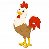 stock photo of roosters  - Cartoon rooster - JPG
