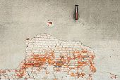 stock photo of grout  - An abstract view of the old wall background - JPG