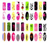 foto of nail-design  - Vector set of templates of nails design - JPG