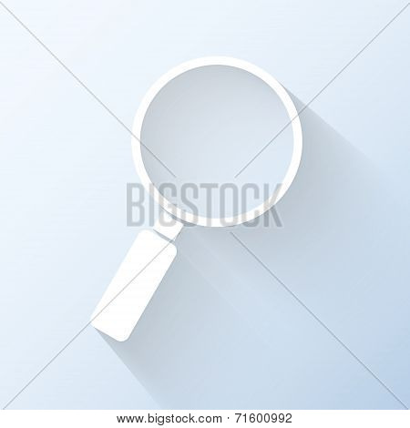 Flat Magnifying Glass Icon. Vector Illustration
