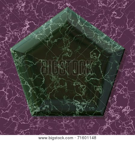 Pentagon Shape Frame With Seamless Generated Texture