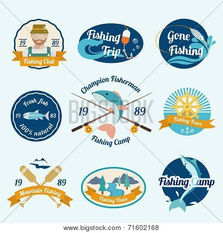 Fishing label set