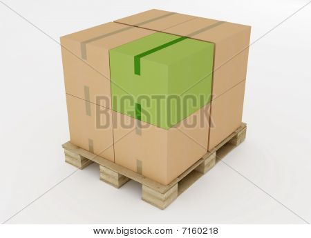 Cardboard Boxes On Wooden