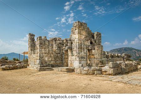 Ancient ruins in Kaunos,