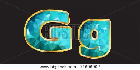Bb With Gold And Teal