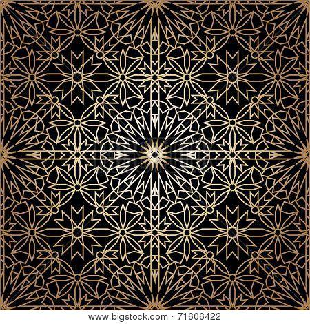 Ornamental round morocco seamless pattern. Orient traditional ornament. Oriental motif. Gradient RGB