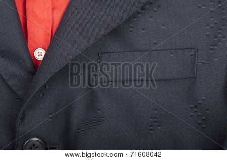 Close-up of mens shirt