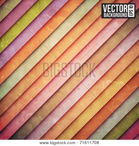 Colorful rainbow paper stripe background. Retro pattern