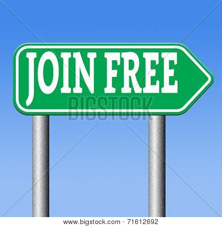 join now by a free subscription. Subscribe now and open your online account today. Registration road sign
