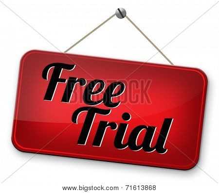 try now for free trial membership or product promotion free product sample, test or try it here and now. No charges unique promotion offer