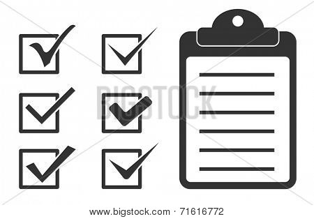 checkmark tick and checklist icon