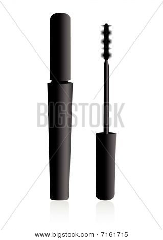 Mascara tube isolated on white background