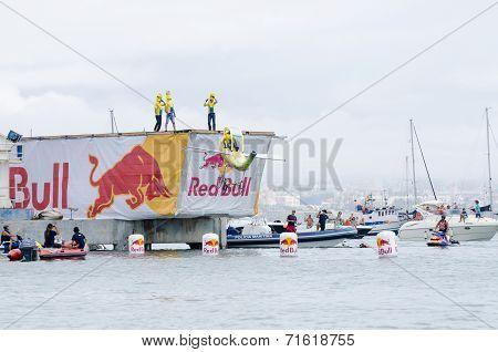 Air Banana Team At The Red Bull Flugtag