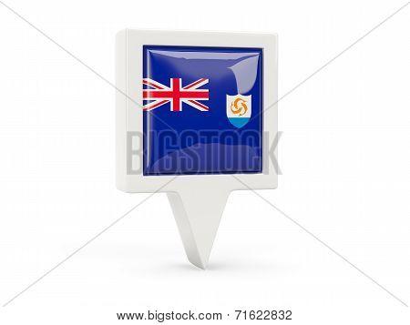 Square Flag Icon Of Anguilla