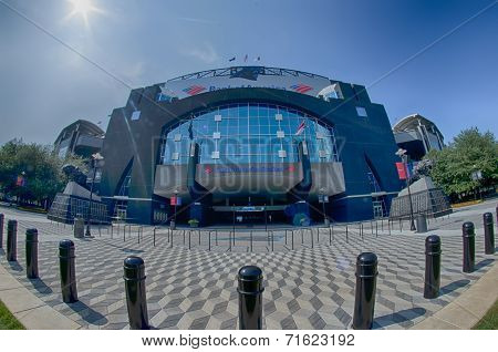 Charlotte, North Carolina - August, 2014: View Of The Newly Renovated Bank Of America Stadium, Home