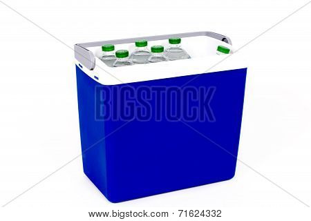 Traveling Refrigerator With Bottles Of Water