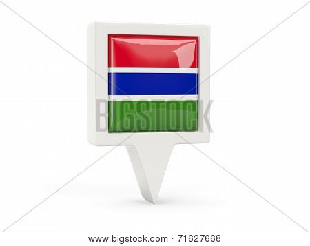 Square Flag Icon Of Gambia
