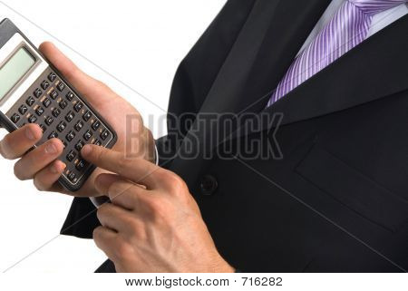 calculator and businessman
