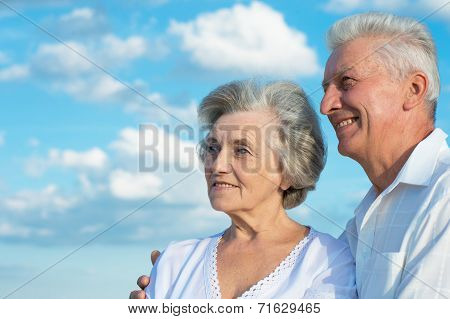 Beautiful caucasian aged couple