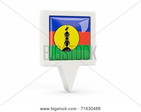 Square Flag Icon Of New Caledonia