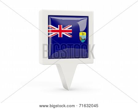 Square Flag Icon Of Saint Helena