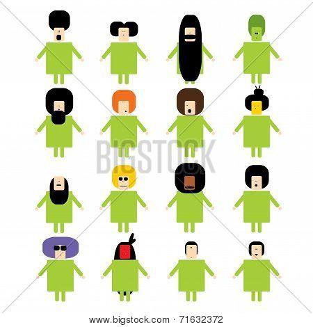 Multiculture People set