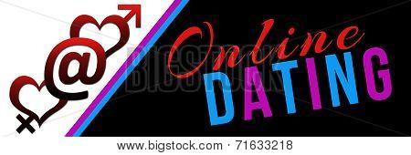 Online Dating Pink Blue Black