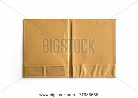 Open Brown Folder Isolated