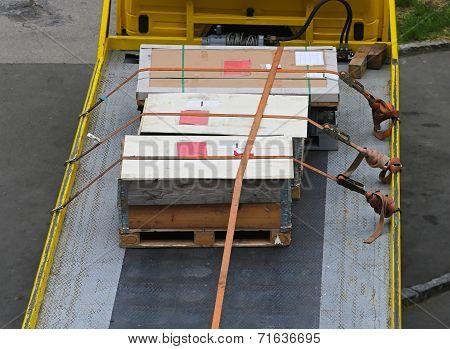 Crates At Truck