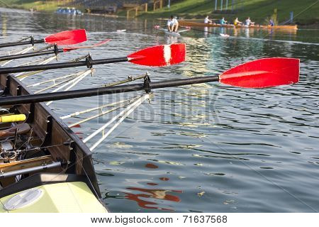 Boat With A Red Paddle