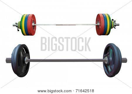 weight under the white background