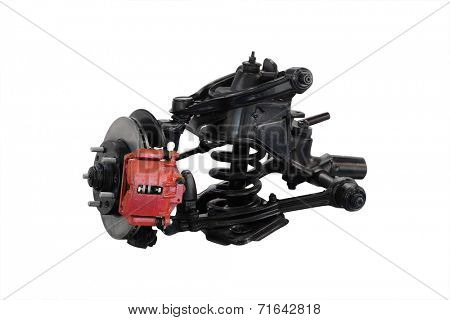 Car suspension isolated under the white background