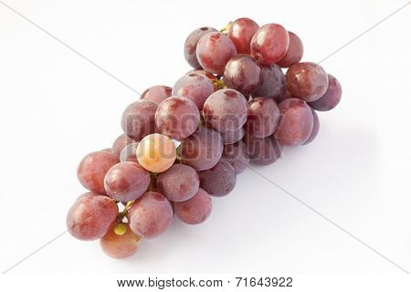 Fresh grape isolated on white