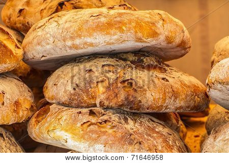 artisan bread in a medieval fair, spain