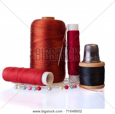 Group Of Items For Home Sewing