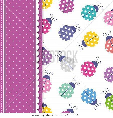 ladybugs and polka dot greeting card