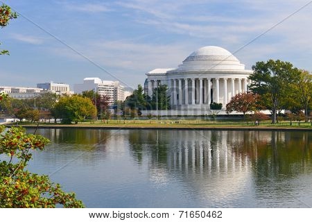 Washington DC - Jefferson Memorial in Autumn -  United States of America