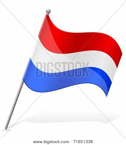 Flag Of Holland Vector Illustration