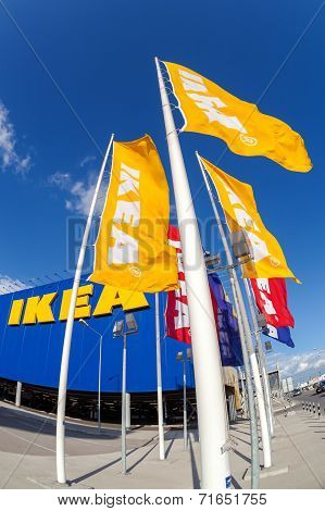 Samara, Russia - September 6, 2014: Ikea Samara Store. Ikea Is The World's Largest Furniture Retaile