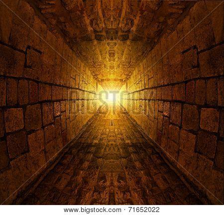 Medieval underground tunnel